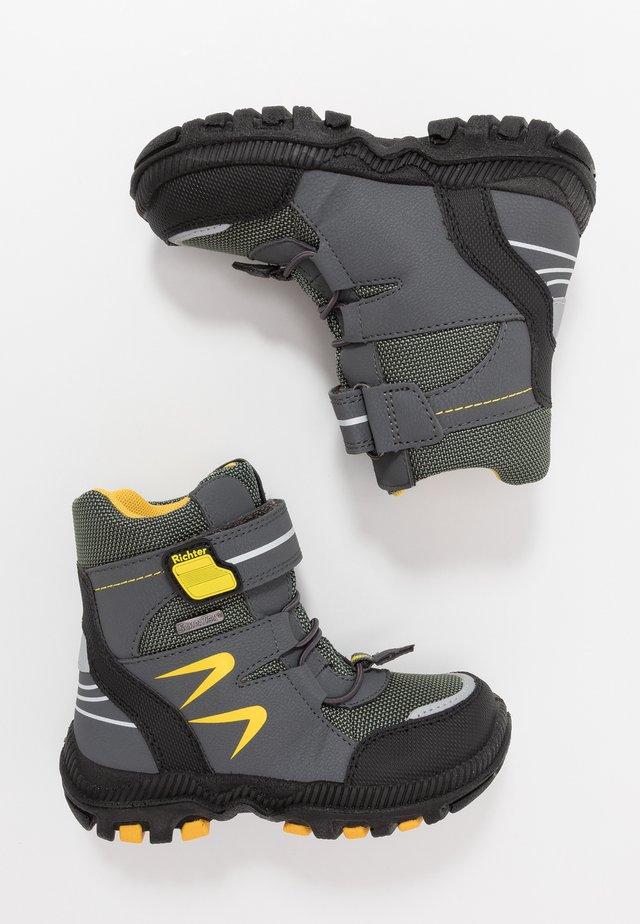 Talvisaappaat - black/ash/yellow