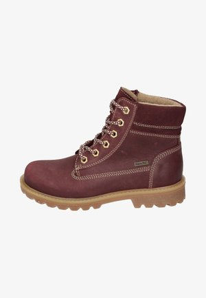 KINDER - Schnürstiefelette - dark red