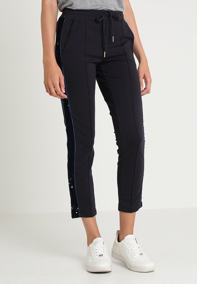 Rich & Royal - PANTS WITH SEQUINS - Pantalones deportivos - deep blue