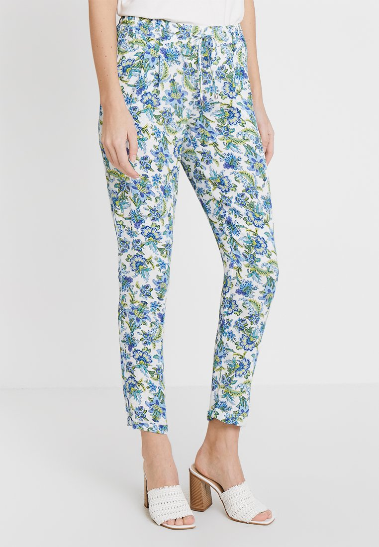 Rich & Royal - PRINTED PANTS - Stoffhose - white