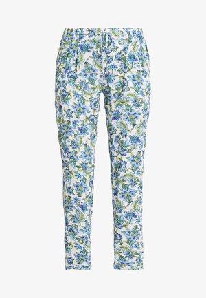 PRINTED PANTS - Bukse - white