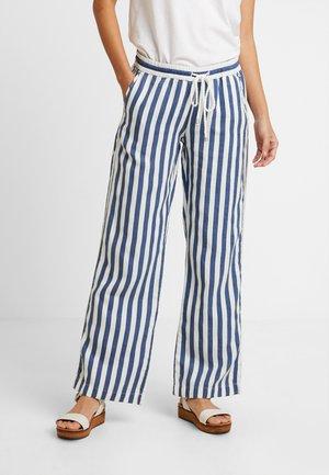 WIDE LEG PANTS - Kalhoty - denim blue