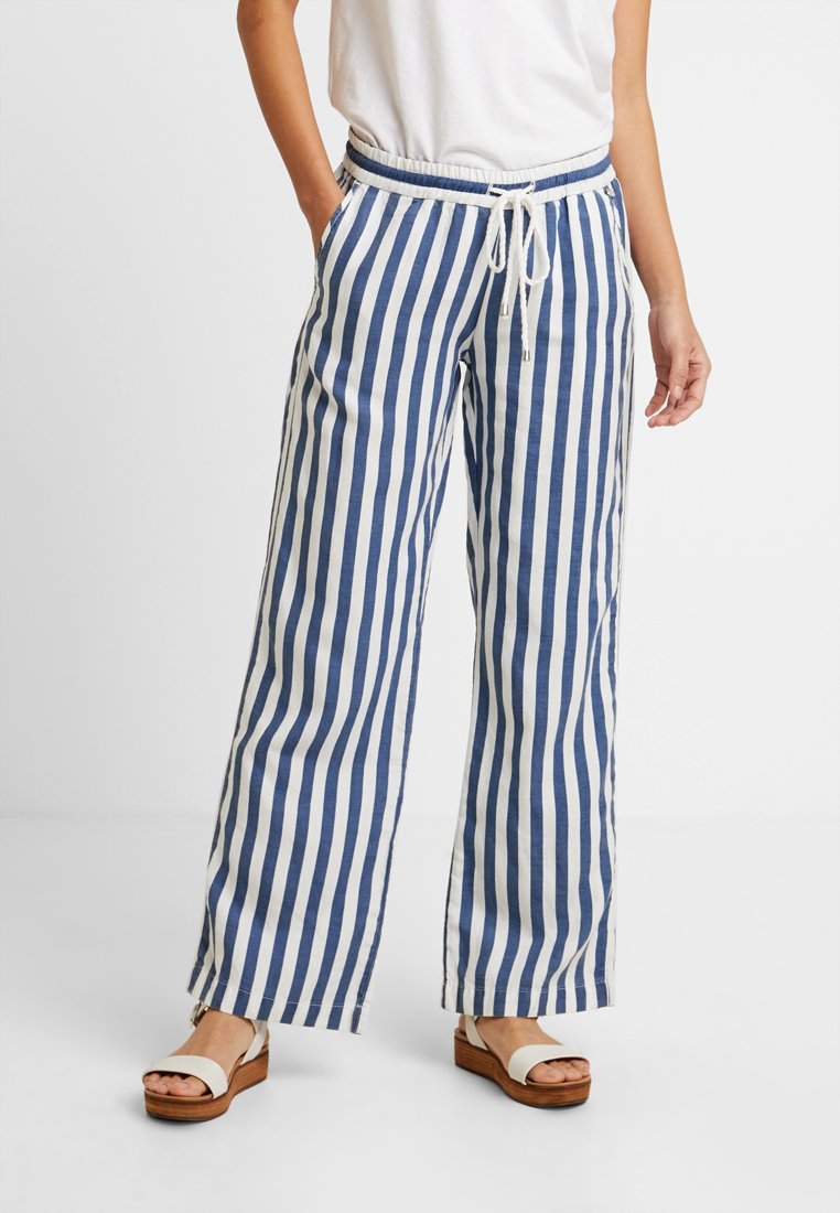 Rich & Royal - WIDE LEG PANTS - Pantalones - denim blue