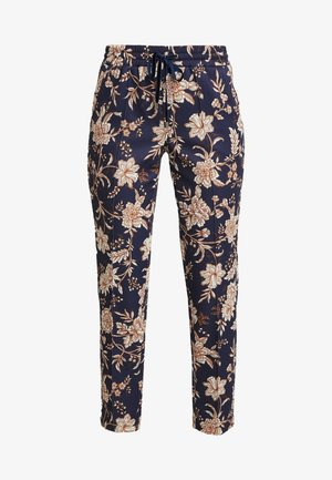 PRINTED PANTS - Bukse - deep blue