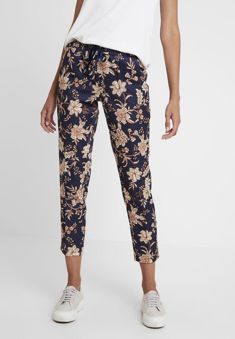 Rich & Royal - PRINTED PANTS - Pantalon classique - deep blue
