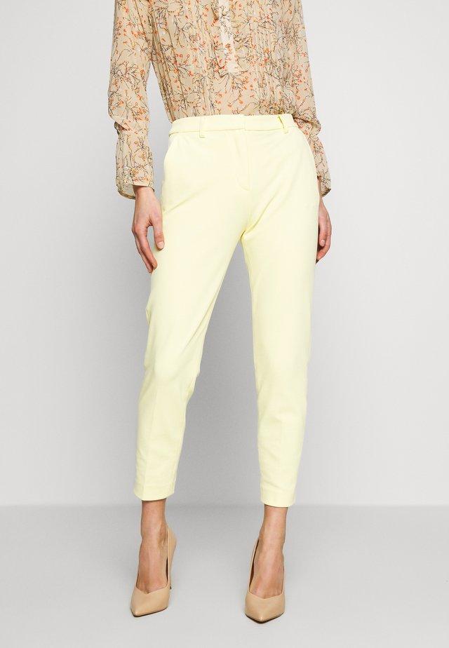 PANTS WITH TURNUP - Bukse - light lemon