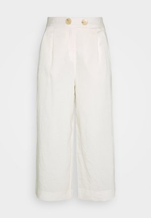 CULOTTE PANTS - Trousers - pearl white
