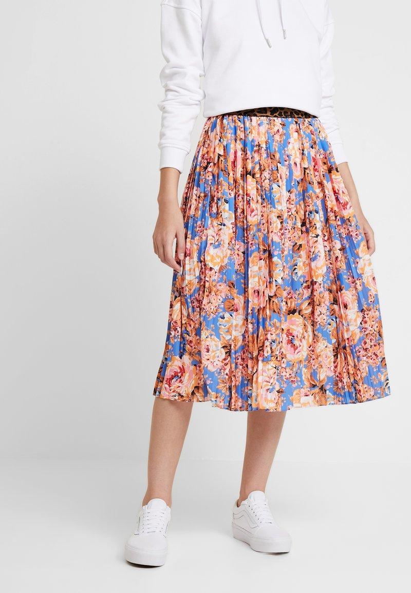 Rich & Royal - PLISSEE SKIRT - A-line skirt - blue