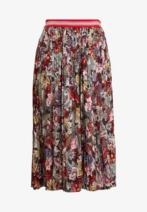 PLISSEE SKIRT PRINTED - A-line skirt - cherry red