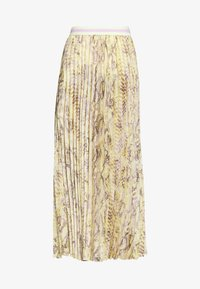 Rich & Royal - PLISSEE SKIRT WITH SNAKE PRINT - Maxiskjørt - light lemon - 4