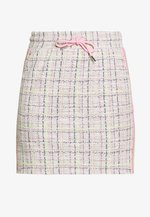SKIRT WITH TAPES - Minirok - pearl white