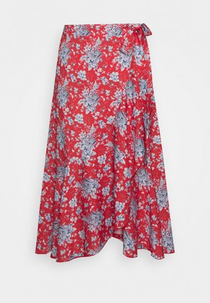 SKIRT WITH VOLANT - Falda acampanada - summer red