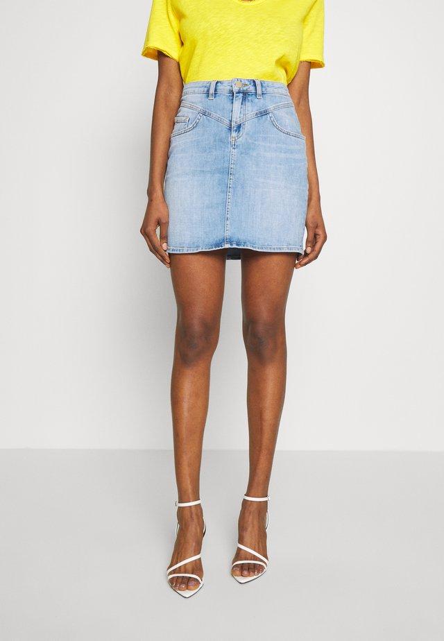 SKIRT VINTAGE LOOK - Denimová sukně - denim blue