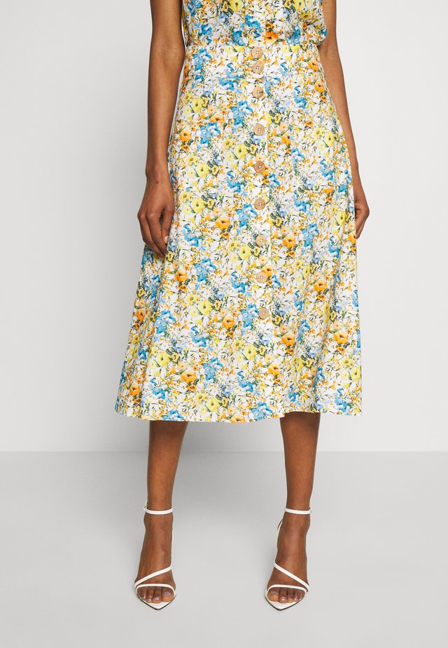 MIDI SKIRT PRINTED - A-Linien-Rock - white
