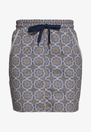 SKIRT WITH TILE PRINT - Pencil skirt - deep indigo