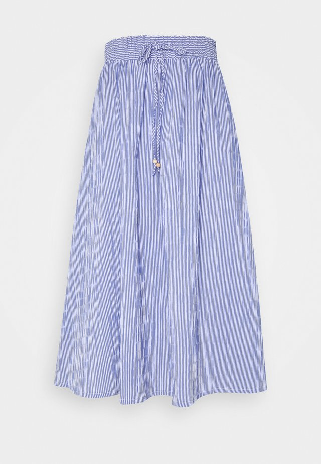 MIDI SKIRT STRIPED - A-Linien-Rock - deep indigo