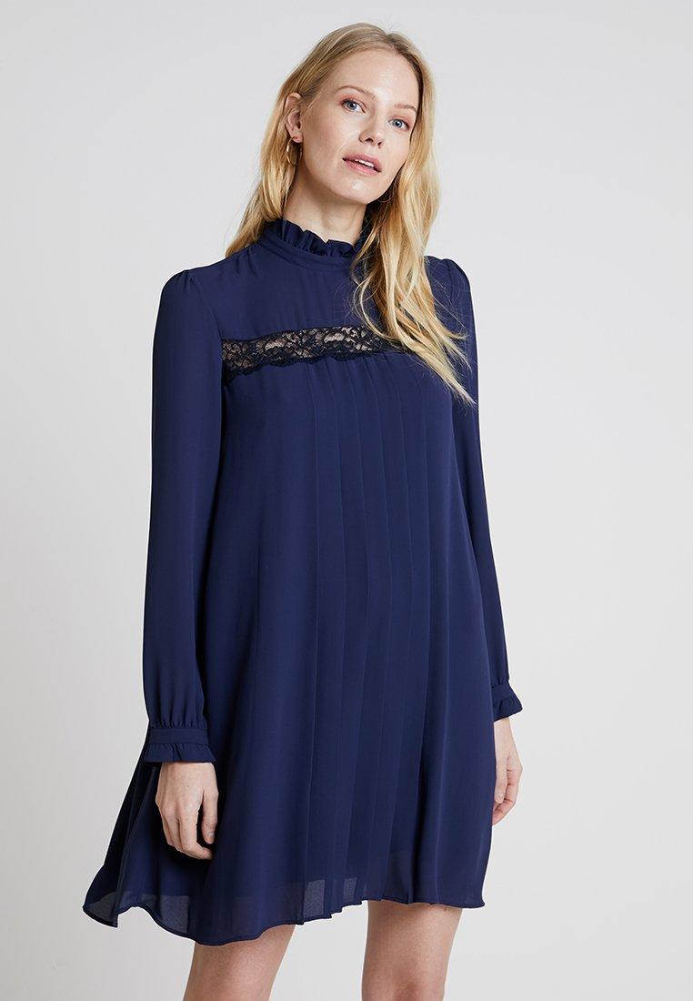 Rich & Royal - PLISSEE DRESS  - Vestido informal - deep blue