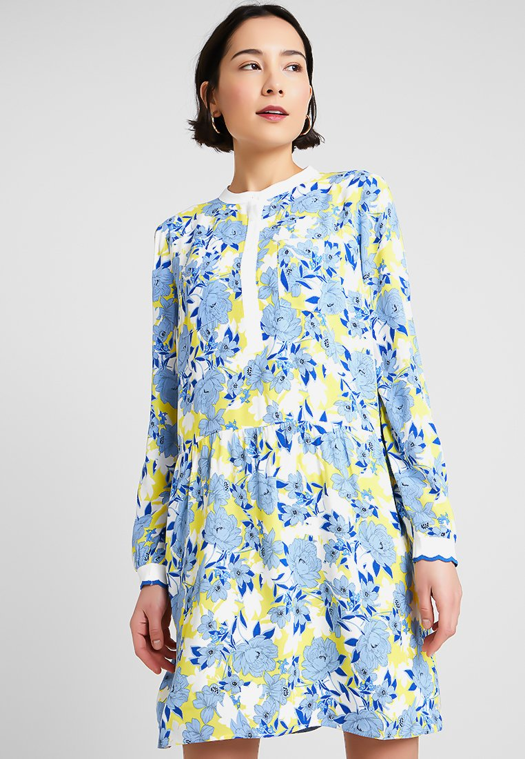 Rich & Royal - PRINTED DRESS - Vestido camisero - lemon