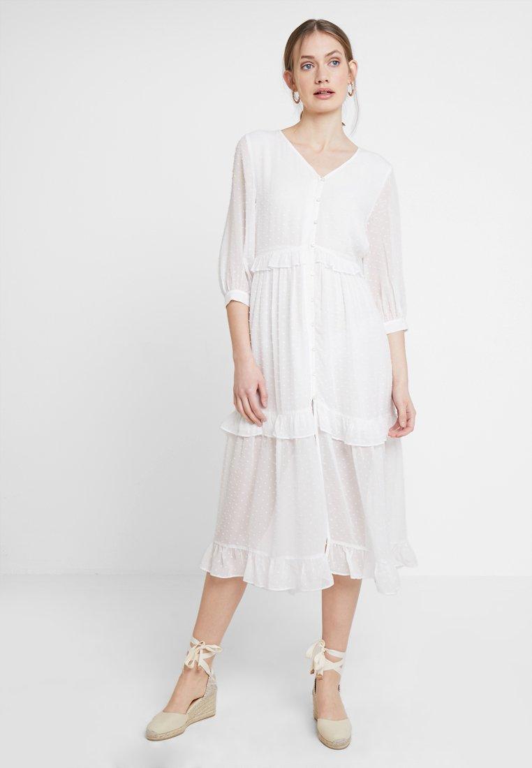 Rich & Royal - ROMANTIC DRESS - Maxi dress - pearl white