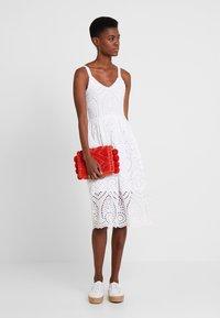 Rich & Royal - DRESS WITH EMBROIDERY ANGLAISE - Denní šaty - white - 1