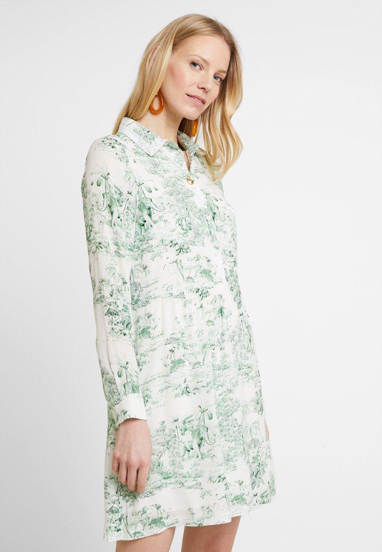 Rich & Royal - PRINTED DRESS - Shirt dress - dark pistachio