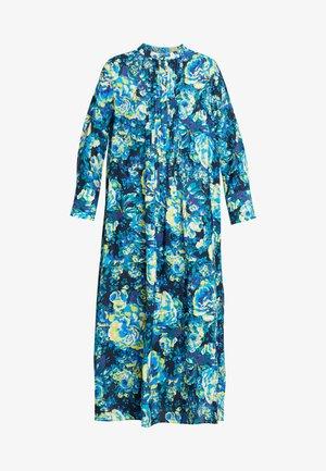 DRESS WITH PIN TUCKS - Vapaa-ajan mekko - multi-coloured/dark blue/neon green