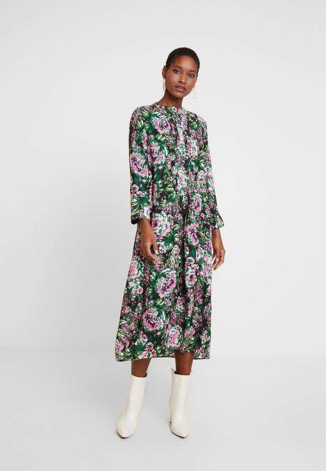 DRESS WITH PIN TUCKS - Korte jurk - multi-coloured/black/neon pink