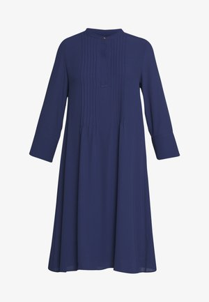 DRESS WITH PIN TUCKS AND PLISSEE - Robe d'été - deep blue