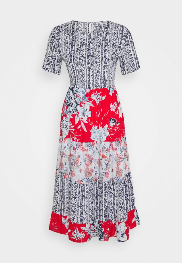 DRESS WITH PRINTMIX - Korte jurk - multi-coloured