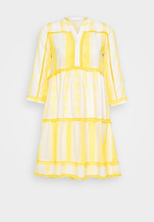 DRESS EMBROIDERED - Day dress - spring gold