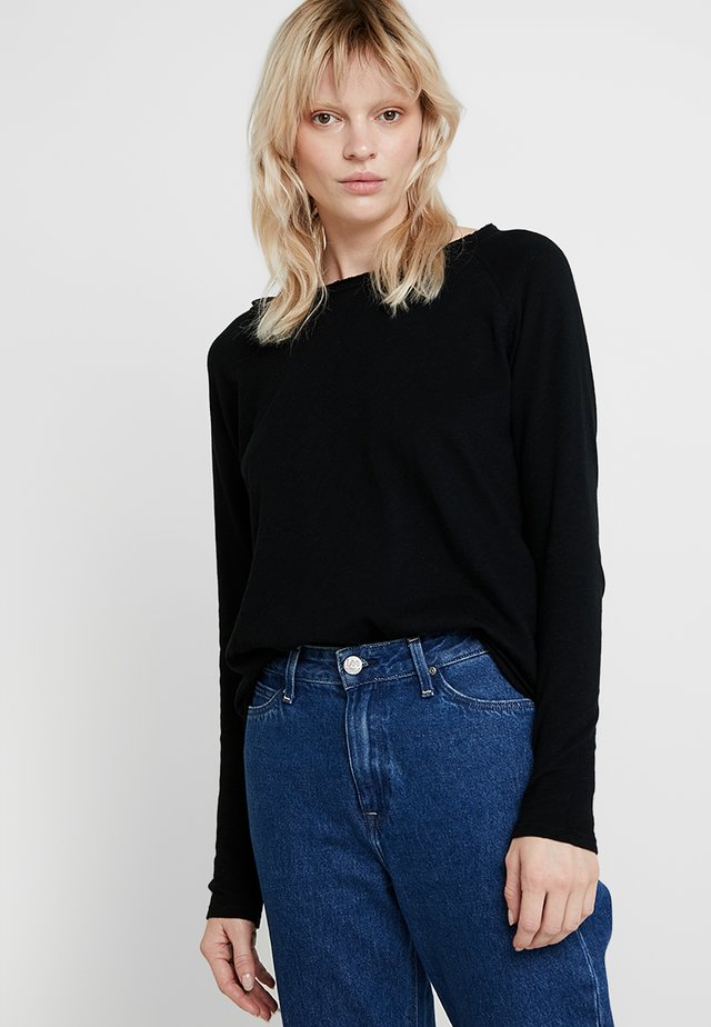 HEAVY LONGSLEEVE - Long sleeved top - black