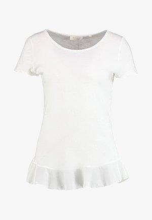 SLUB PEPLUM - Camiseta estampada - white