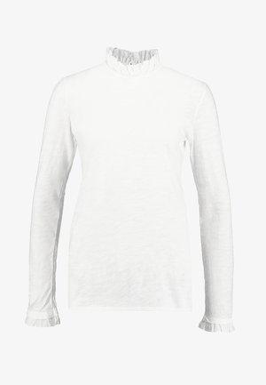 SLUB FRILL - Topper langermet - white