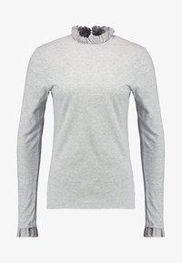 Rich & Royal - SLUB FRILL - Topper langermet - grey - 4