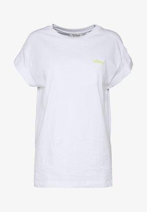 BOYFRIEND - T-shirts - white/neon yellow