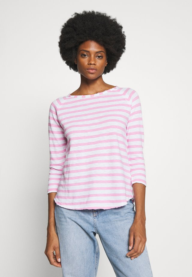 HEAVY LONGSLEEVE STRIPED - Long sleeved top - pink