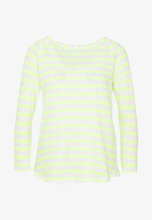 HEAVY LONGSLEEVE STRIPED - Maglietta a manica lunga - neon yellow