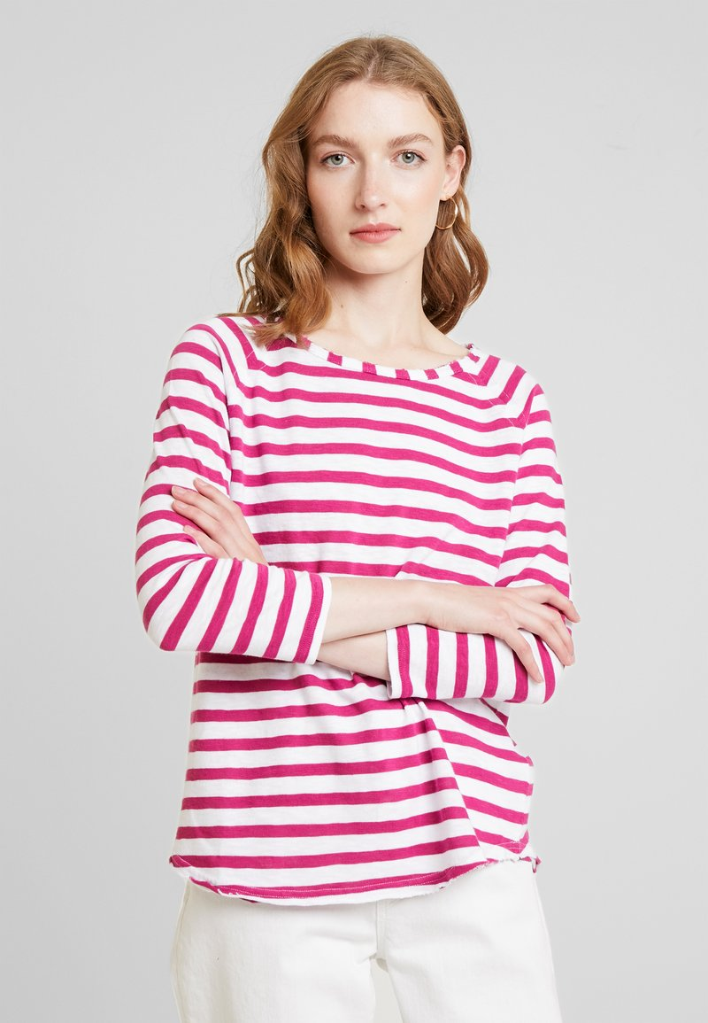 Rich & Royal - LONGSLEEVE STRIPED - Long sleeved top - raspberry pink