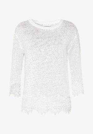 Langarmshirt - pearl white