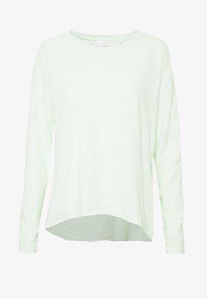 SLUB OVERSIZE LONGSLEEVE - Langarmshirt - jade mint