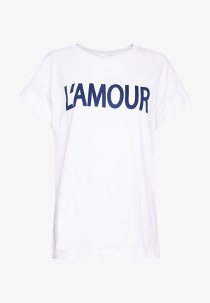 L'AMOUR - T-shirts med print - white