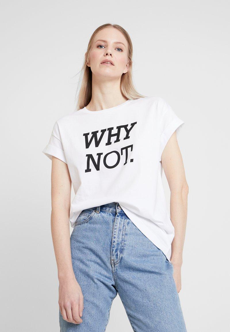 Rich & Royal - Print T-shirt - white/black