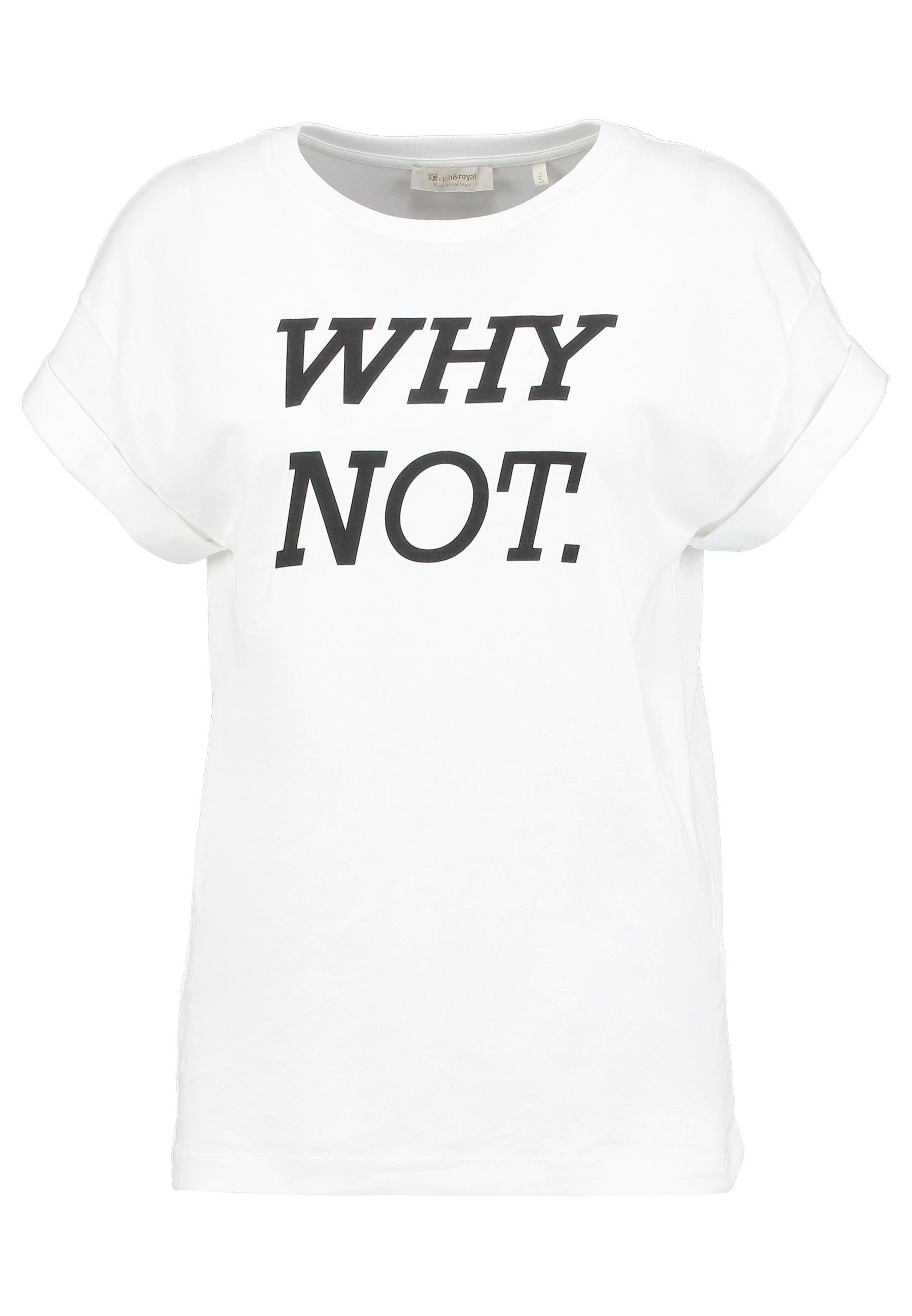 Rich & Royal T-shirt z nadrukiem - white/black