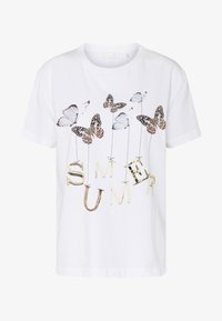 Rich & Royal - BUTTERFLY PRINT - T-shirts med print - white - 4