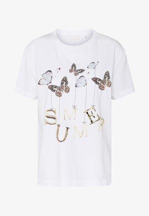 BUTTERFLY PRINT - Print T-shirt - white