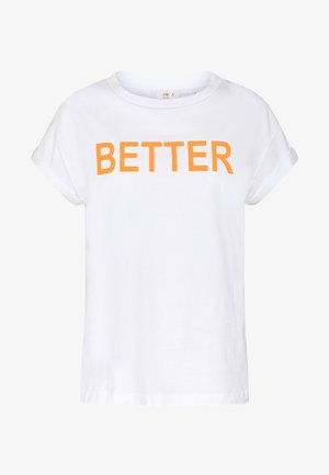 WITH BETTER TOGETHER  - Printtipaita - neon orange
