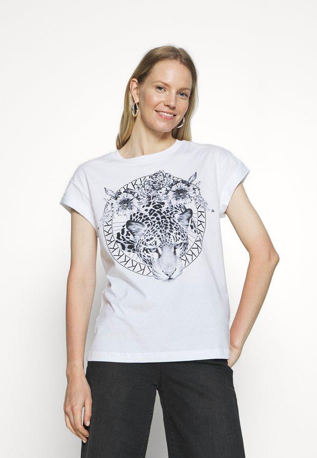 LEO - T-shirt imprimé - white