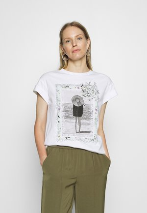 WITH PRINT YOU ARE MINE - T-shirts med print - white