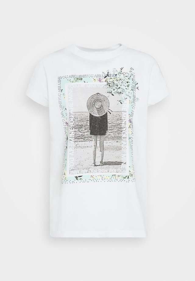 WITH PRINT YOU ARE MINE - T-Shirt print - white