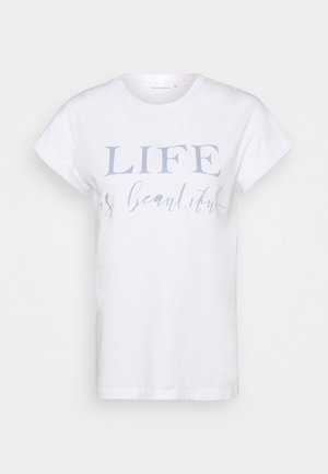 Print T-shirt - dove/blue